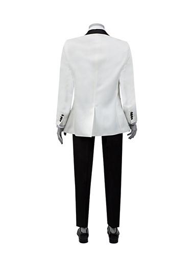 D'S Damat Takım Elbise Beyaz